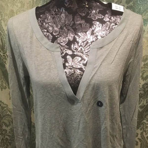 NWT Abercrombie & Fitch Slate Green Pullover, L
